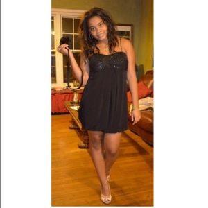 Cachet Dresses - Cachet Black Sequin Bodice Balloon Dress